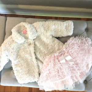 Baby Girl Sherling Coat One Button Coat by Place